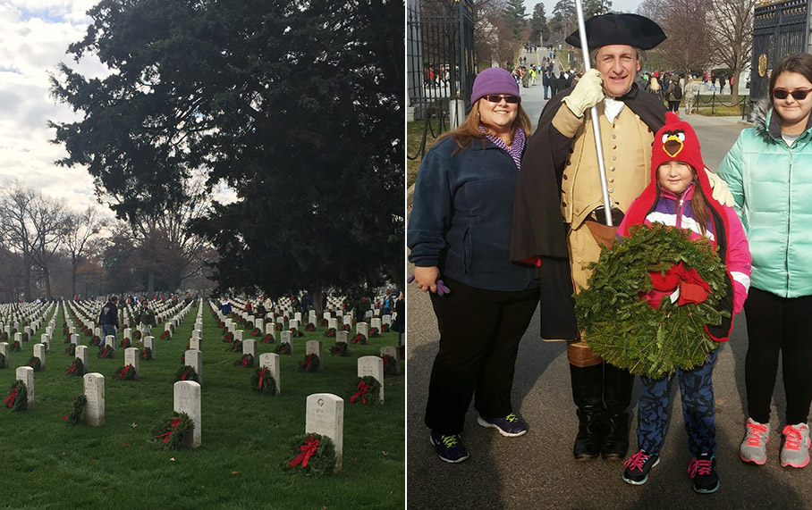 Alpha Corporation Volunteers in Wreaths Across America Program at Arlington National Cemetery