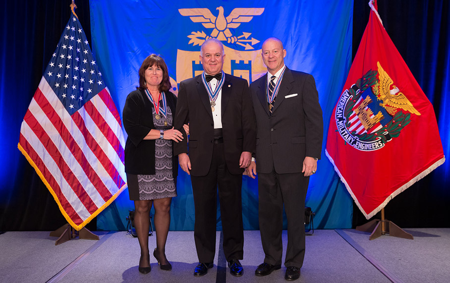 Alpha Corporation President Philios Angelides received National Recognition for Mentoring from the Society of American Military Engineers (SAME)