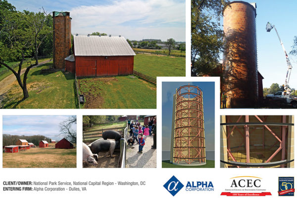 Alpha Corporation Receives ACEC/MW Honor Award for Oxon Hill Silo Project