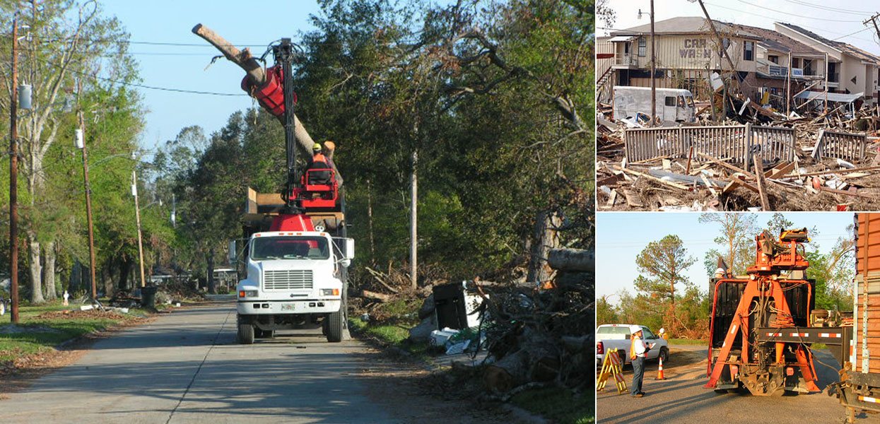 Hurricanes Katrina and Rita Cleanup Support - U.S. Army Corps of Engineers, Mobile District