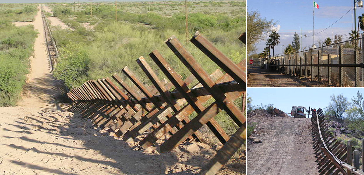 Vehicle Barrier Fence at Organ Pipe Cactus National Monument - National Park Service