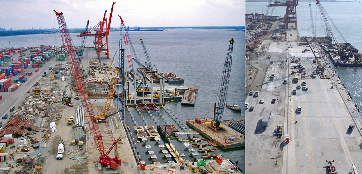 South Wharf Reconstruction, Norfolk International Terminal - Virginia Port Authority
