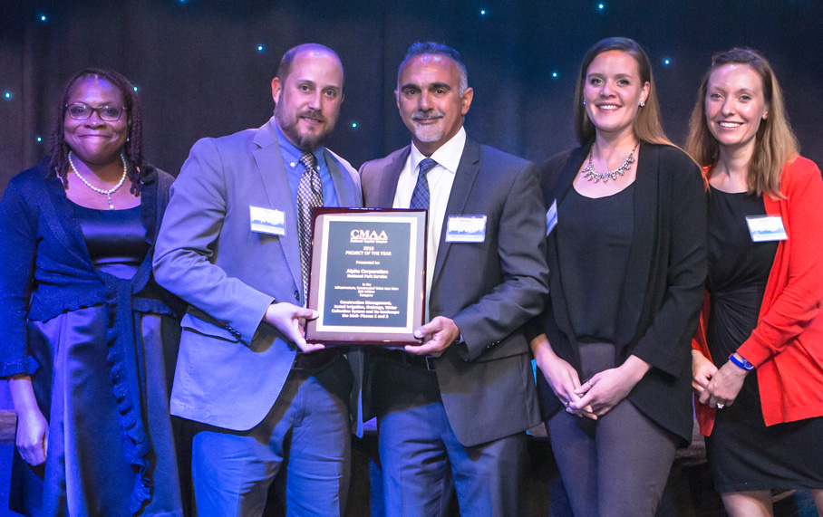 Alpha Corporation and National Park Service (NPS) win 2016 Project Achievement Award from the Construction Management Association of America, National Capital Chapter (CMAA NCR)