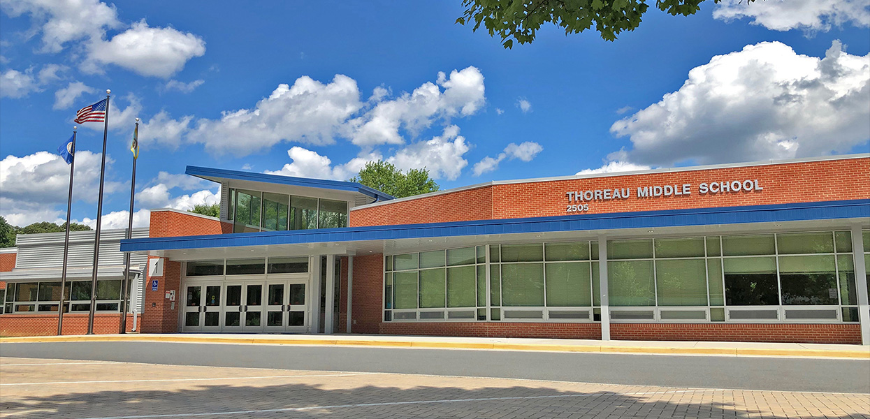 Thoreau Middle School Renovation and Addition, Fairfax County Public Schools, Vienna, VA