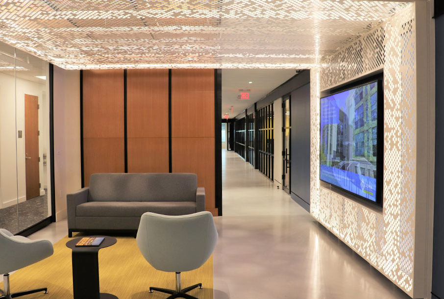 We've Moved! Alpha Corporation's New Office Space in Dulles, VA - Lobby and Hallway
